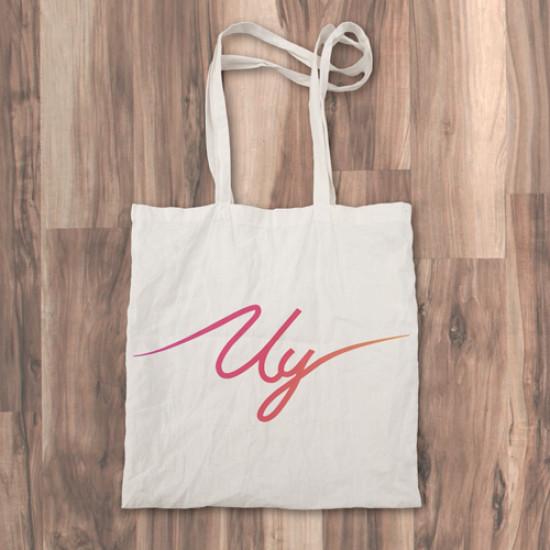 """Bolso de tela """"tote bag"""" 100% algodón con diseño del youtuber Uy Albert!"""
