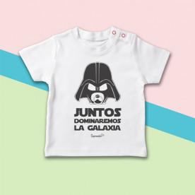 Camiseta manga corta de bebé con frase divertida y original