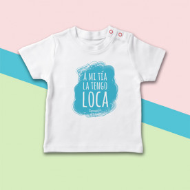 Camiseta manga corta de bebé ideal para regalar a tu sobrin@, porque te tiene loquita de amor