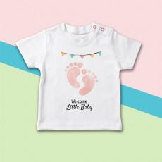 Original camiseta de bebé de manga corta para la llegada del recién nacido a casa