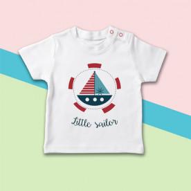 Camiseta marinera para bebé de manga corta, ideal para el verano