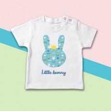 Camiseta para bebé con dibujo de conejito original de manga corta