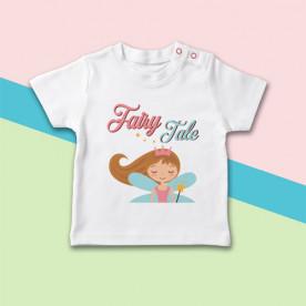 Camiseta para bebé de manga corta con dibujo de princesa de cuento