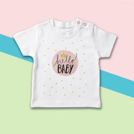 Divertida camiseta de bebé de manga corta para recién nacidos
