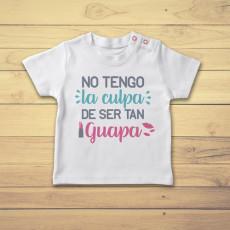 Divertida camiseta de bebé manga corta para niña