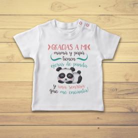 Divertida camiseta para bebé de manga corta, dedicada a los papás que no duermen