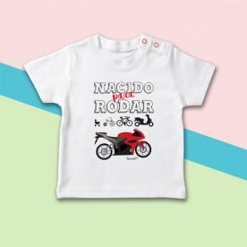 Camiseta manga corta de bebé ideal para unos padres moteros