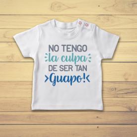 Divertida camiseta de bebé manga corta para niño