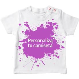 Camiseta para bebé de manga corta para que la hagas a tu gusto
