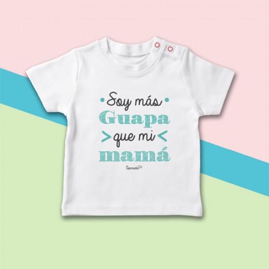 Camiseta para bebé de manga corta, con frase original.