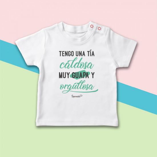 Camiseta manga corta para bebé personalizada, el regalo original para sobrinos. ¡Siéntete orgullosa!