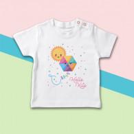 Camiseta para bebé de manga corta con dibujo de cometa y sol para el verano
