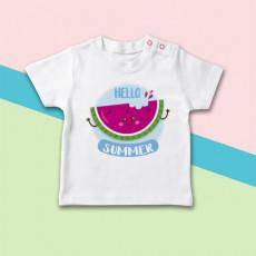 Camiseta para bebé de manga corta con dibujo de sandía para el verano