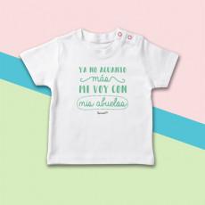 Camiseta manga corta de bebé con frase divertida y original, especial para los abuelos.