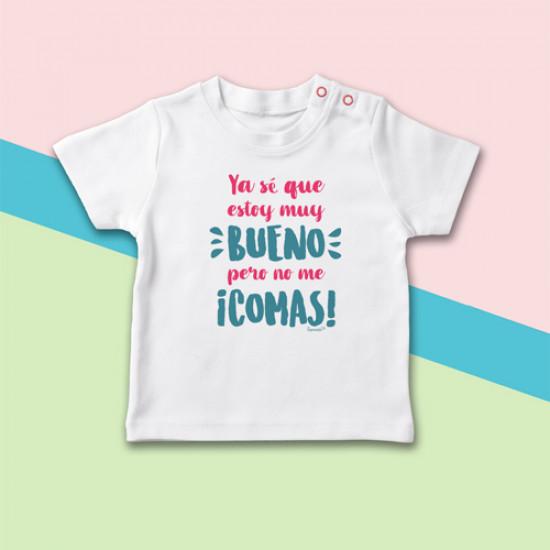 Camiseta manga corta de bebé ideal para hacer un regalo a un recién nacido.