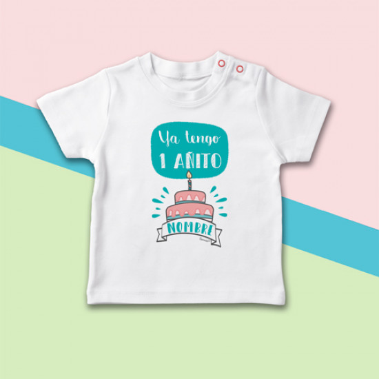 Camiseta manga corta de bebé especial primer cumpleaños