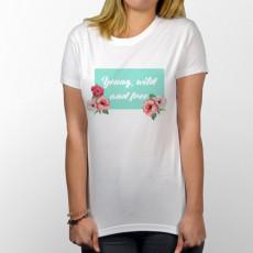 Camiseta para chica de manga corta con frase original