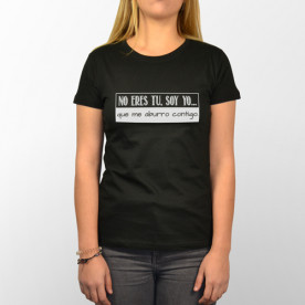 Camiseta unisex con frase original, hecha para el aburrimiento