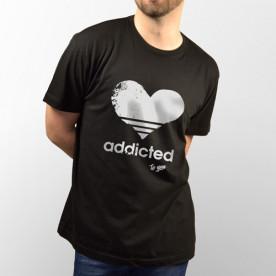 """Camiseta para chica y chico de manga corta con dibujo """"Addicted"""""""