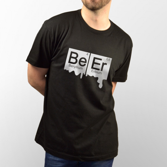 Camiseta friki de manga corta unisex con los elementos químicos Be Er