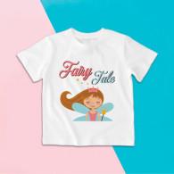 Camiseta para niña de manga corta con dibujo de princesa de cuento