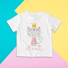 Camiseta para niño y niña de manga corta