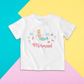 Camiseta para niña de manga corta del  la Sirenita