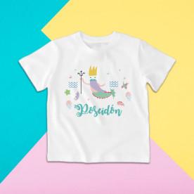 Camiseta para niño y niña de manga corta del Rey de los mares