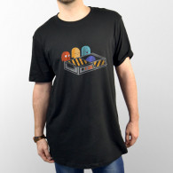 Camiseta unisex de manga corta del videojuego Pacman de los 80's