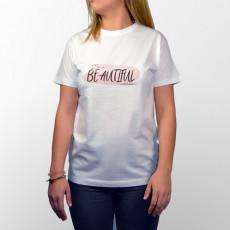 Camiseta manga corta para chica , porque eres hermosa y lo sabes