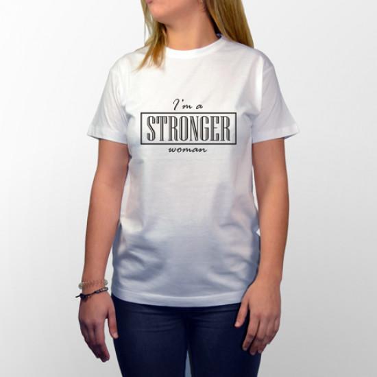 Camiseta manga corta para mujeres fuertes y valientes