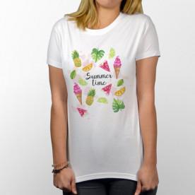 Camiseta unisex de manga corta ideal para el verano, porque es ¡summer time!