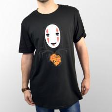 Camiseta divertida unisex Spirited Away, Sin Rostro, ofreciendo paella valenciana