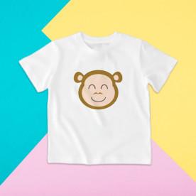 Camiseta para niño y para niña de manga corta con dibujo de animales.