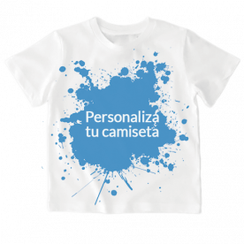 Camiseta niño y niña de manga corta para que la personalices a tu gusto