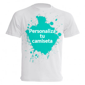 Camiseta larga de manga corta para que la personalices a tu gusto