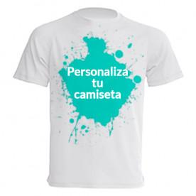 Camiseta de manga corta básica para que la personalices a tu gusto