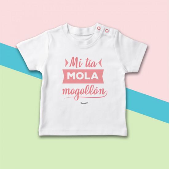 Camiseta de manga corta para bebé, ideal para regalar a tu sobrino. Sé la tía más molona!
