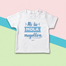 Camiseta de manga corta para bebé, ideal para regalar a tu sobrino. Sé el tío más molón!