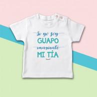 Camiseta de manga corta para bebé, ideal para regalar a tu sobrino. Porque los dos sois muy guapos