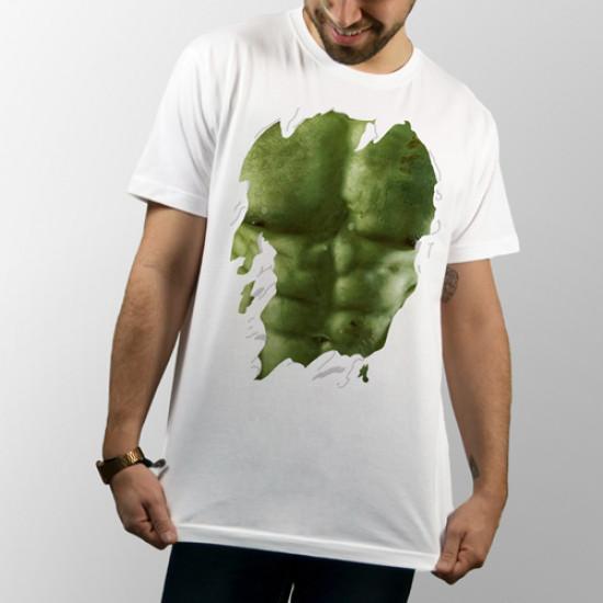Camiseta blanca unisex de manga corta con dibujo de Hulk de Marvel