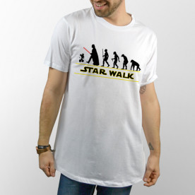 Camiseta Blanca unisex Star Walk