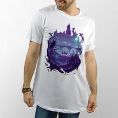 Camiseta manga corta con imagen de Harry Potter, Ron y Hermione en el bosque
