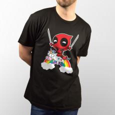 Camiseta para chico y chica de manga corta, modelo básico y extra largo con dibujo divertido de DeadPool