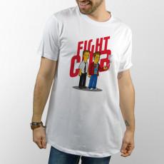 Camiseta unisex con dibujo de El club de la lucha en versión los Simpsons