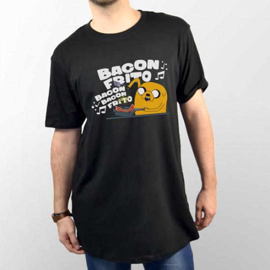 Camiseta unisex manga corta para chico y chica, modelo básico y extra largo con dibujo de Jake hora de aventuras