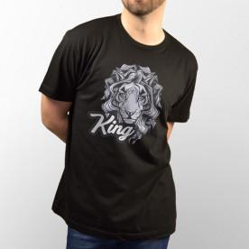 Camiseta para chico y chica de manga corta con dibujo del Rey de la selva