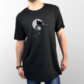 Camiseta unisex negra Minions silueta como en la pelicula de Pesadilla antes de Navidad