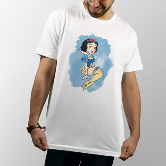 """Camiseta unisex de manga corta con dibujo de la princesa Disney """"Blancanieves"""""""