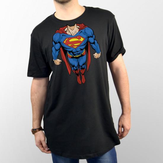 Camiseta unisex cuerpo Superman volando